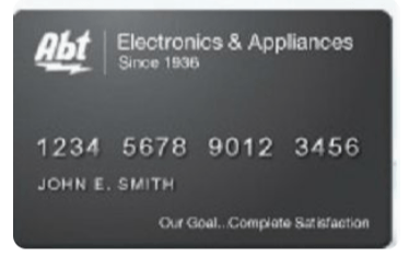 Abt Electronics Credit Card