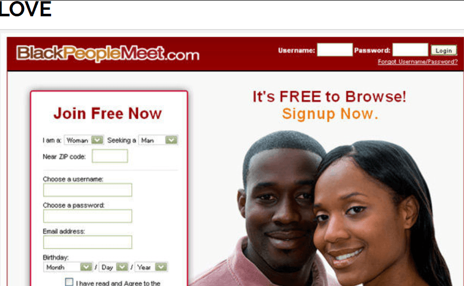 BlackPeopleMeet Login
