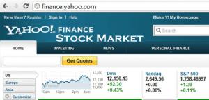 Yahoo Finance Stock Market